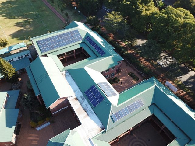 rooftop solar systems at bellavista school